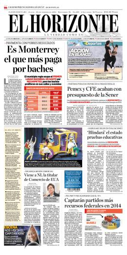 Es Monterrey el que más paga por baches