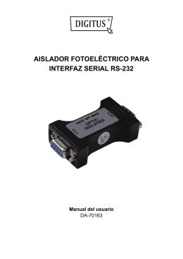 AISLADOR FOTOELÉCTRICO PARA INTERFAZ SERIAL RS-232