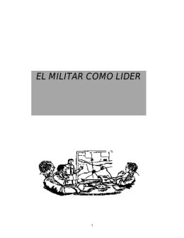 EL MILITAR COMO LIDER