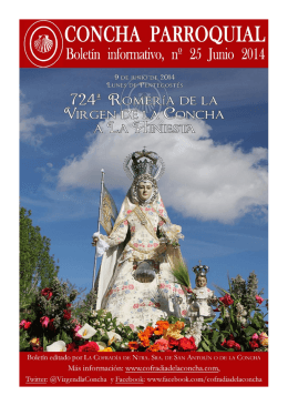 Junio 2014 - Cofradía de la Concha