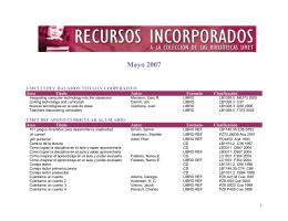 Mayo 2007 - Sistema Universitario Ana G. Méndez