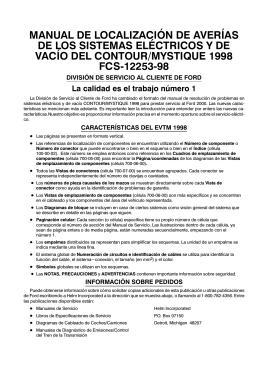 manual de localización de averías de los sistemas eléctricos y de