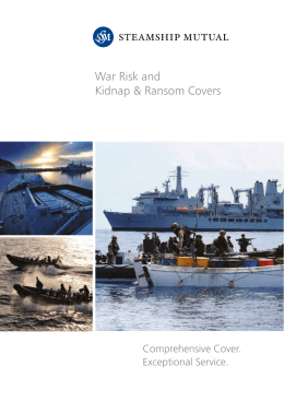 War Risk and K&R Covers