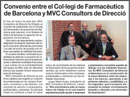 Convenio entre el Col·legi de Farmacèutics de Barcelona y MVC