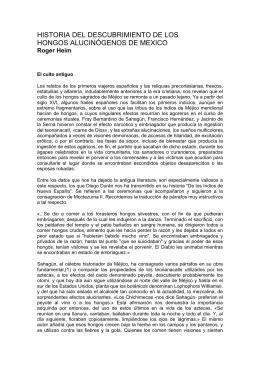 Historia Descubrimiento Hongos Alucinogenos en Mexico