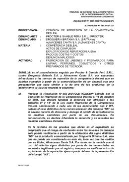 procedencia : comision de represion de la competencia