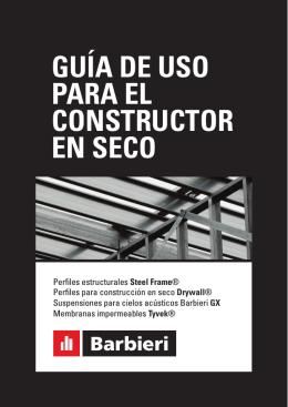 GUÍA DE USO PARA EL CONSTRUCTOR EN SECO
