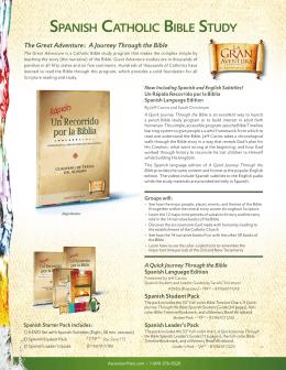 SpaniSh CatholiC BiBle Study