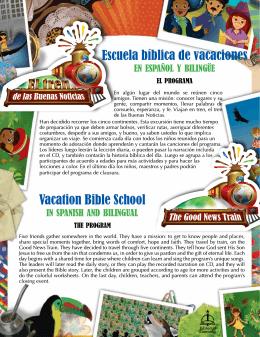 Escuela bíblica de vacaciones Vacation Bible School