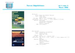 Nuevas Adquisiciones - Universidad Autónoma Chapingo