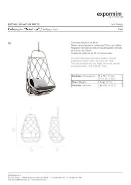 "Columpio ""Nautica"" / swing chair"