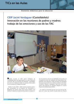CEIP Jacint Verdaguer (Castelldefels) Innovación en las reuniones