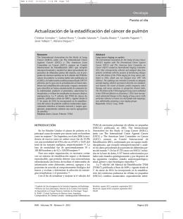 Actualización de la estadificación del cáncer de pulmón