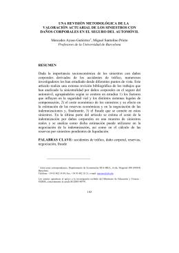 Una revisión metodológica de la valoración actuarial de los