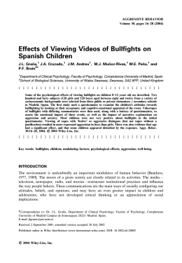 Effects of Viewing Videos of Bullfights on Spanish Children