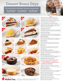 Dessert Bonus Days - Solon City Schools