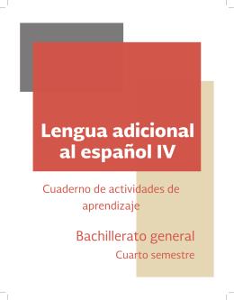 Lengua adicional al español IV - DGB