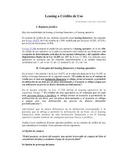 Leasing o Crédito de Uso – PDF