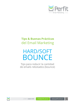 BOUNCE - Perfit Email Marketing