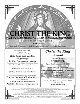 Calendario 2015 - Christ the King Roman Catholic Church