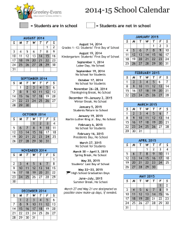 2004 District Calendar 2005