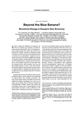 Beyond the Blue Banana? Structural Changes in