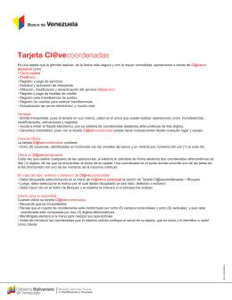 Tarjeta Cl@vecoordenadas