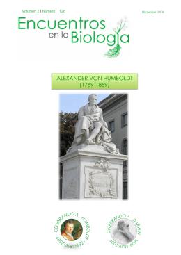 alexander von humboldt - Encuentros en la Biología