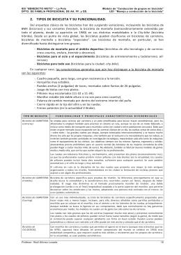 2. TIPOS DE BICICLETA Y SU FUNCIONALIDAD.