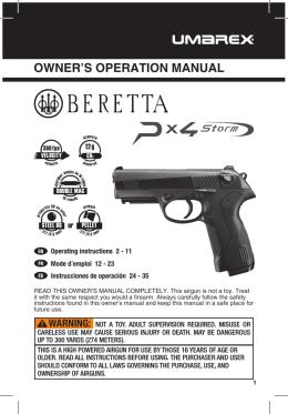 MANUAL 2253004 2253012 Beretta Px4 AUG12 WR