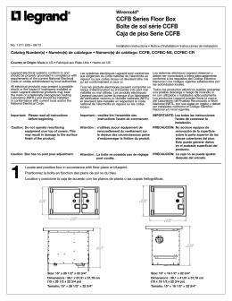 CCFB Series Floor Box Boîte de sol série CCFB Caja