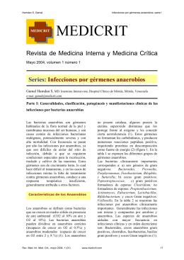 Infecciones por gérmenes anaeróbicos parte I