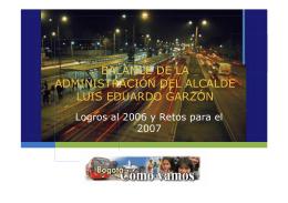 BALANCE DE LA ADMINISTRACIÓN DEL ALCALDE LUIS