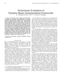 Performance Evaluation of Dynamic Binary Instrumentation