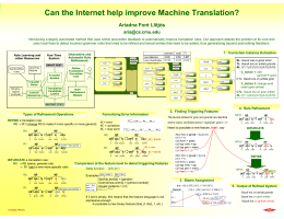 Can the Internet help improve Machine Translation?