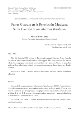 Ferrer Guardia in the Mexican Revolution