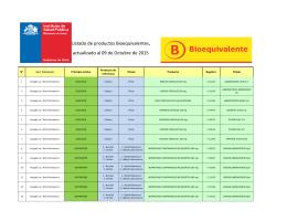 Listado por uso - Instituto de Salud Pública de Chile