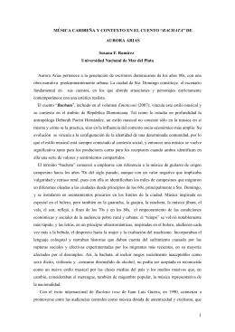 """música caribeña y contexto en el cuento """"bachata"""" de aurora arias"""
