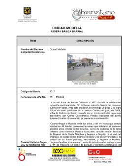 CIUDAD MODELIA - Centro de documentación e información local