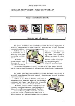 IMÁGENES, AUTOFORMAS y TEXTO CON WORDART Imagen