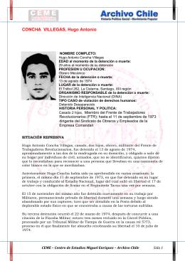 CONCHA VILLEGAS, Hugo Antonio