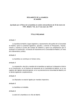 Reglamento de la Asamblea de Madrid