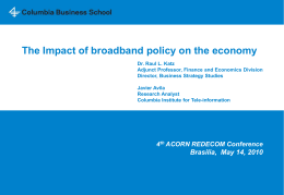 The Impact of broadband policy on the economy