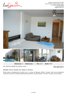 Middle Floor Studio for Sale in Elviria