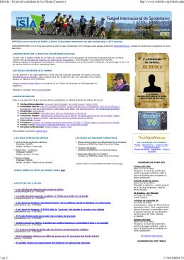 Infoisla - El portal ciudadano de La Palma (Canarias) http://www