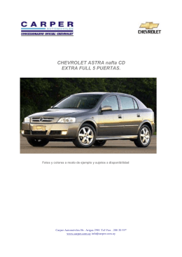 CHEVROLET ASTRA nafta CD EXTRA FULL 5 PUERTAS.