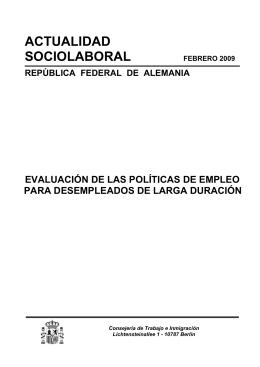 ACTUALIDAD SOCIOLABORAL - Ministerio de Empleo y Seguridad