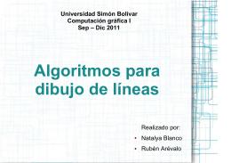 Algoritmos para dibujo de líneas - LDC