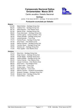 Campeonato Nacional Saltos Ornamentales Marzo 2015