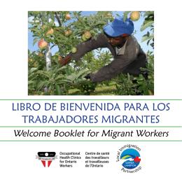 libro de bienvenida para los trabajadores migrantes
